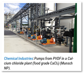 Plastic pumps prefered in chemical industries