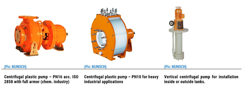 Plastic pumps from MUNSCH