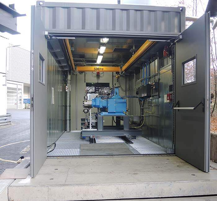 LEWA container test bench