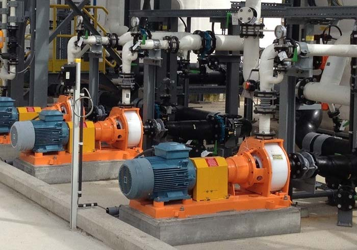Plastic Centrifugal Pumps of NP series of MUNSCH for Lime Milk in a new Zink electrolysis plant in Uzbekistan