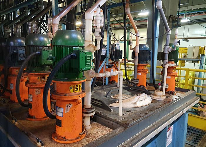 Plant of TPC-M vertical plastic pumps from MUNSCH