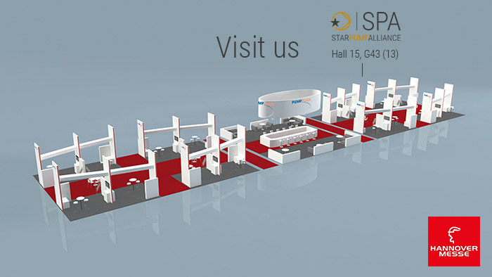 SPA exhibits on PUMP PLAZA (Hannover Messe)