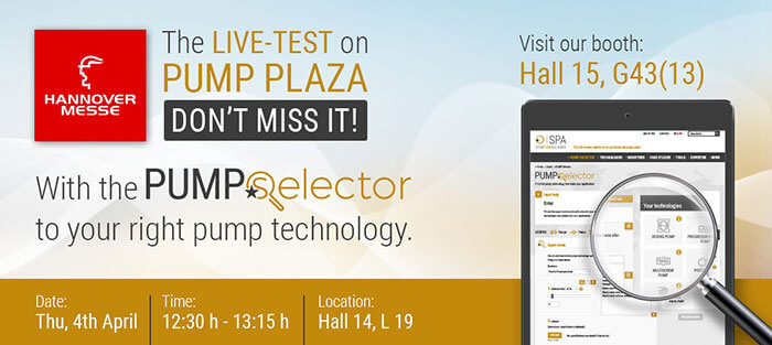 Discussion with live test of PUMP Selector from SPA